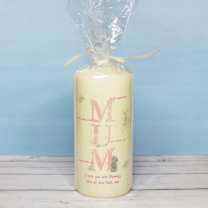 Personalised Me To You MUM Pillar Candle