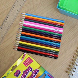 20 Personalised Colouring Pencils