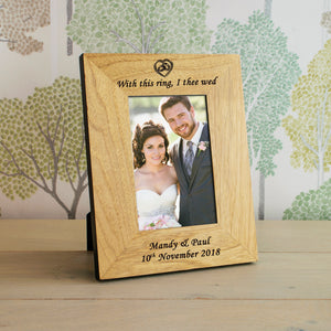 Personalised With This Ring, I Thee Wed Photo Frame