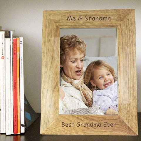 Personalised 5x7 Wooden Photo Frame,Pukka Gifts