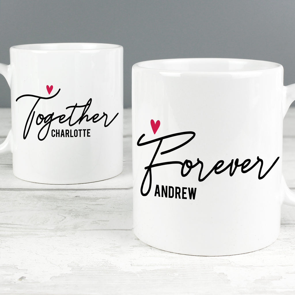 Personalised Together Forever Mug Set