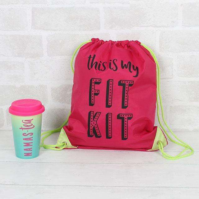 This Is My Fit Kit Drawstring Bag from Pukkagifts.uk
