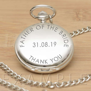 Engraved Any Message Pocket Fob Watch from Pukkagifts.uk