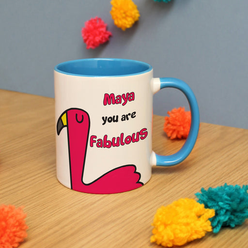 Personalised You Are Fabulous Flamingo Mug