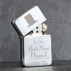 Personalised Decorative Wedding Best Man Lighter from Pukkagifts.uk