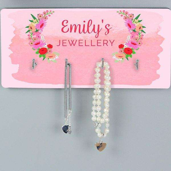 Personalised Floral Wall Hooks from Pukkagifts.uk