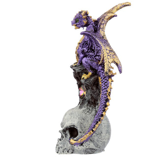 Skull Dragon Dark Legends Dragon Figurine - Purple