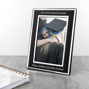 Personalised Silver Plated Graduation Photo Frame 4x6,Pukka Gifts