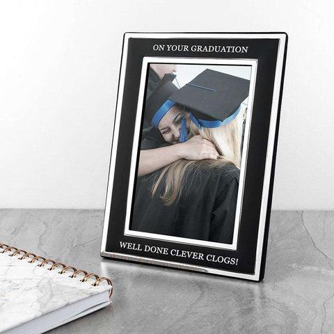 Personalised Silver Plated Graduation Photo Frame 4x6 from Pukkagifts.uk