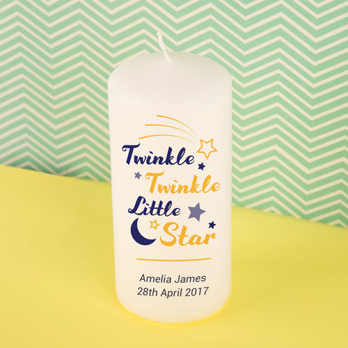 Personalised Twinkle Twinkle Little Star Candle