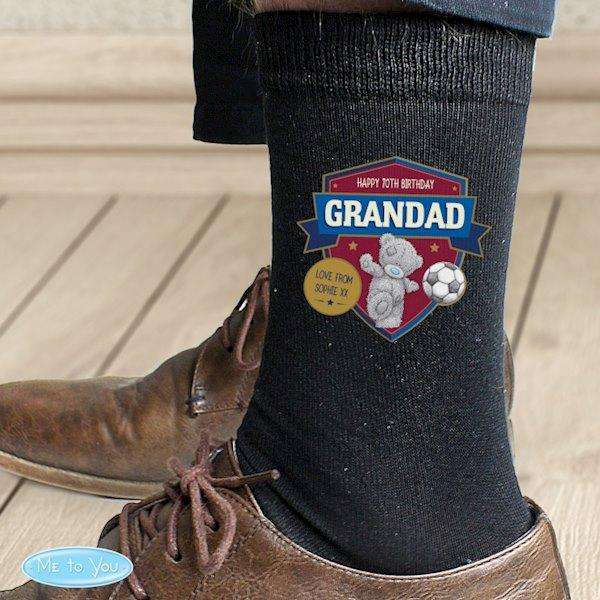 Personalised Me to You Football Men's Socks from Pukkagifts.uk