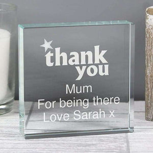 Personalised Thank you Large Crystal Token,Pukka Gifts
