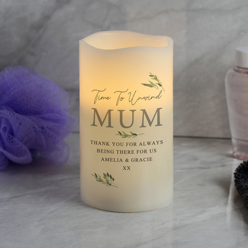 Personalised Botanical LED Candle