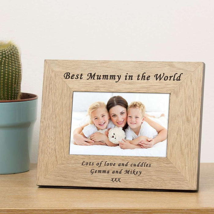 Personalised Best Mummy In The World Photo Frame from Pukkagifts.uk