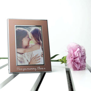 Personalised Small Rose Gold Metal Photo Frame,Pukka Gifts
