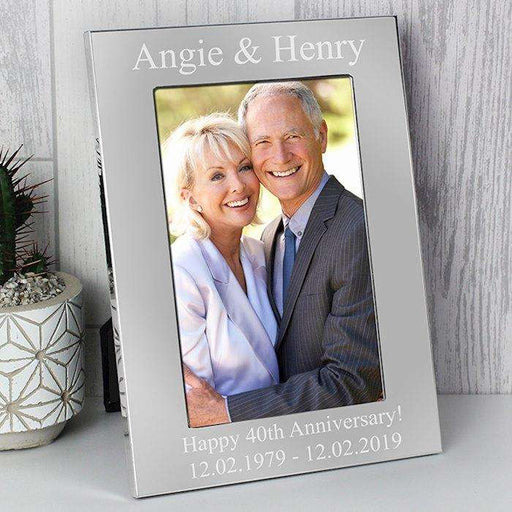 Personalised Silver Photo Frame 4x6 from Pukkagifts.uk