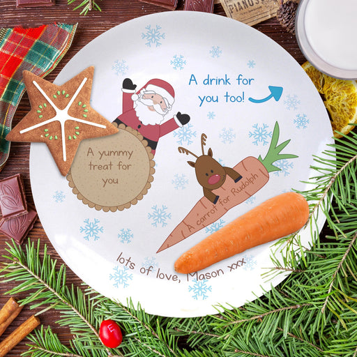 Personalised Treats for Santa 8″ Coupe Christmas Eve Plate