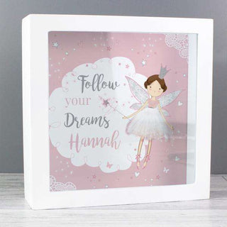 Personalised Fairy Princess Money Fund and Keepsake Box from Pukkagifts.uk