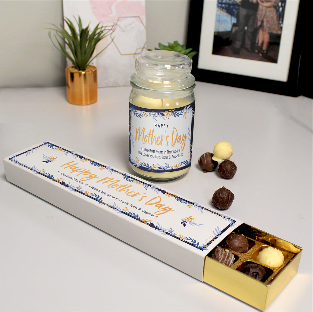 Personalised Happy Mother's Day Candle Jar & Truffles