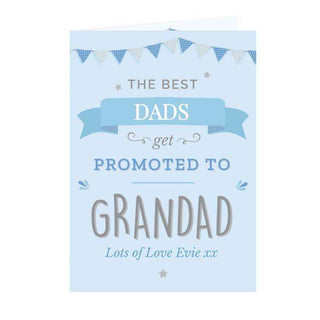 Personalised Blue Promoted To Card from Pukkagifts.uk