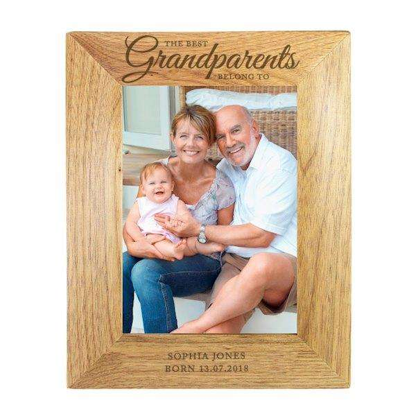 Personalised 5x7 ' The Best Grandparents' Wooden Frame from Pukkagifts.uk