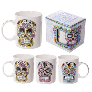 Sugar Skull Day of the Dead Mug from Pukkagifts.uk