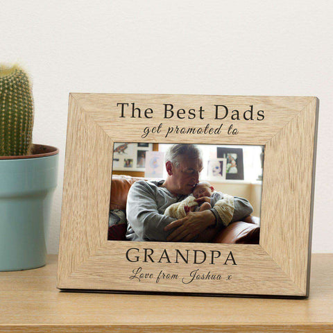 Personalised The Best Dads Get Promoted To Grandad Photo Frame from Pukkagifts.uk