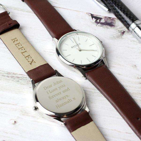 Personalised Unisex Silver Watch with Presentation Box from Pukkagifts.uk