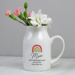 Personalised Rainbow Flower Jug