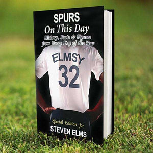 Personalised Spurs On This Day Book from Pukkagifts.uk