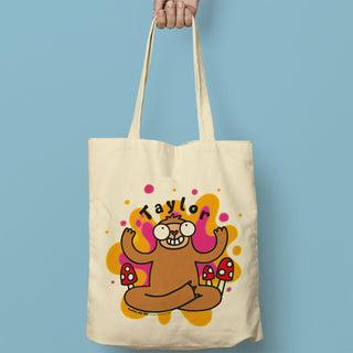 Personalised Groovy Sloth Tote Bag From Pukkagifts.uk