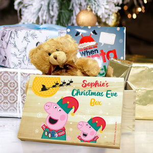 Personalised Peppa Pig & George Pig Christmas Eve Box