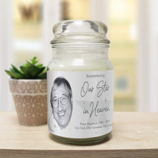 Personalised Our Star In Heaven Candle Jar