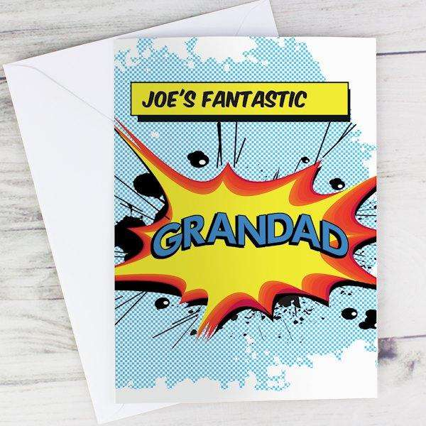 Personalised Comic Book Themed Card from Pukkagifts.uk