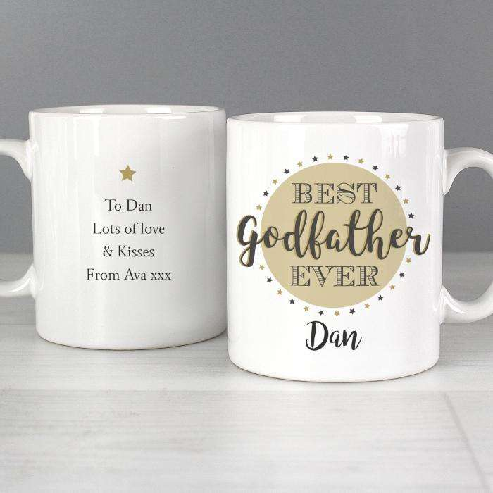 Personalised Best Godfather Mug from Pukkagifts.uk