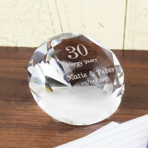 Personalised Special Occasion Diamond Paperweight