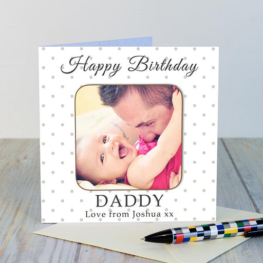 Personalised Photo Coaster Card- Happy Birthday