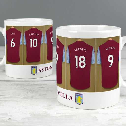 Personalised Aston Villa Football Club Dressing Room Mug