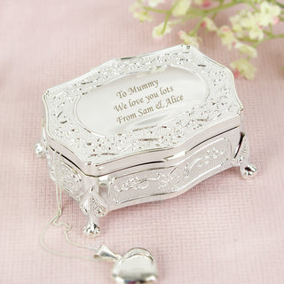 Personalised Small Antique Trinket Box