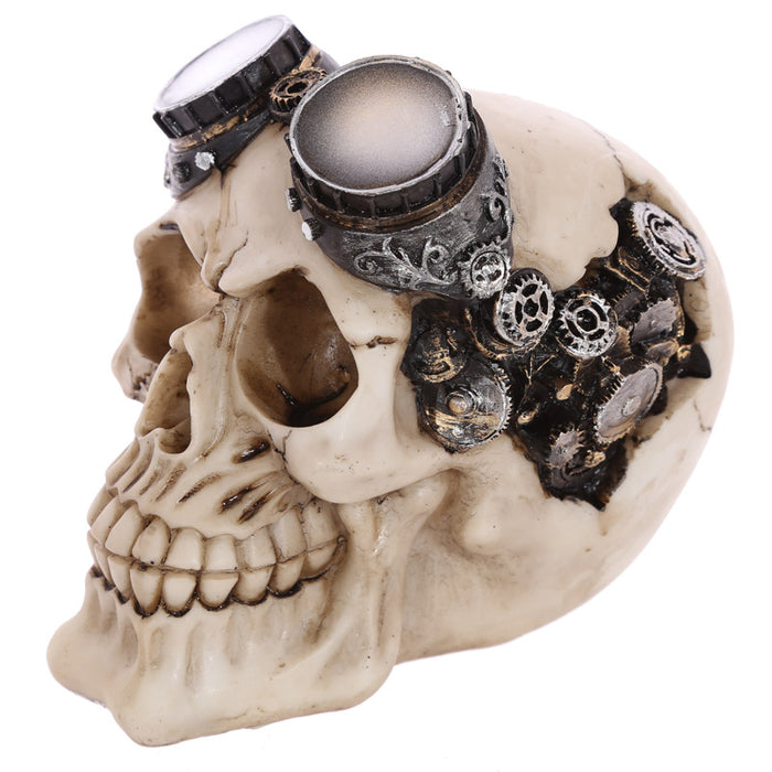 Steam Punk Style Skull Decoration Ornament with Goggles