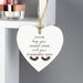 Personalised Eyelash Wooden Heart Decoration