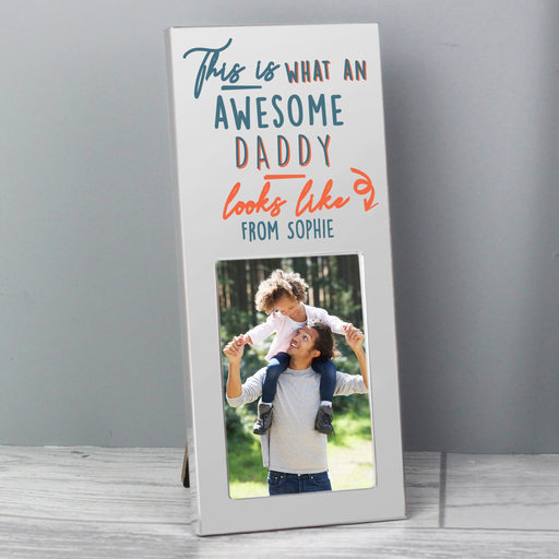 Personalised This Is What Awesome Looks Like Photo Frame Silver 2x3