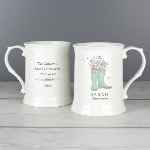 Personalised Ladies Wellies 15oz Mug