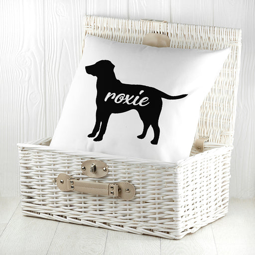 Personalised Labrador Silhouette Cushion Cover from Pukkagifts.uk