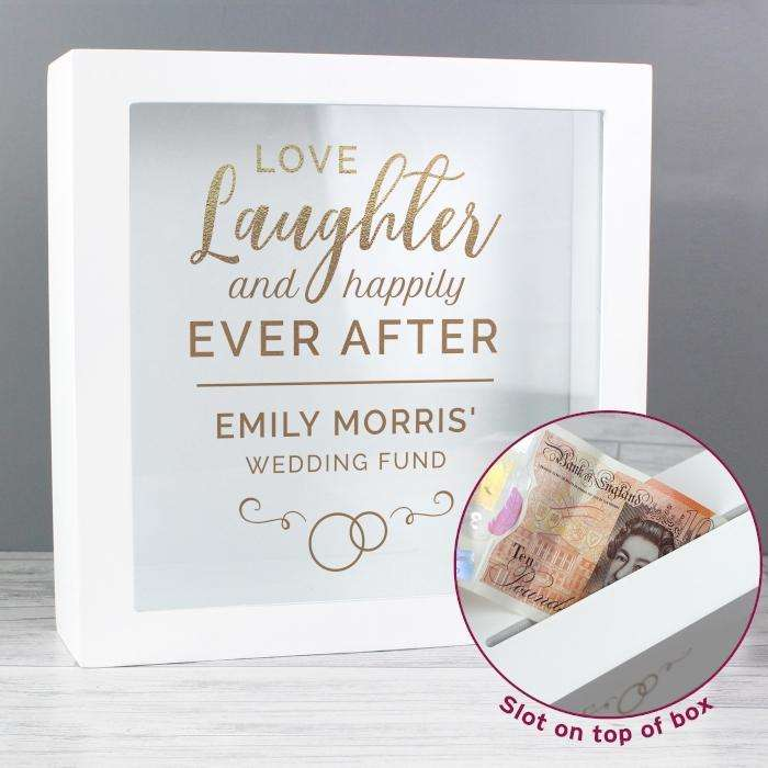 Personalised Happily Ever After Wedding Money Fund Box from Pukkagifts.uk
