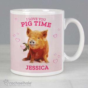 Personalised Racheal Hale 'I Love You Pig Time' Mug,Pukka Gifts