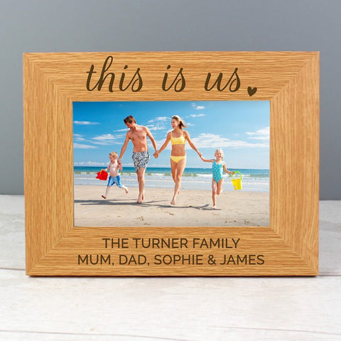 Personalised This Is Us Photo Frame 6x4 Landscape Wooden