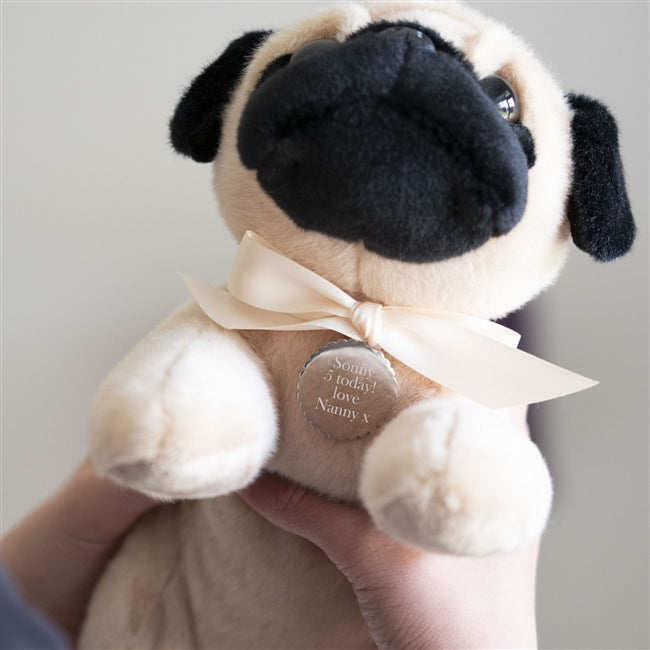 Personalised Perry The Pug Teddy Bear