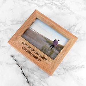 Personalised Wooden Photo Box from Pukkagifts.uk