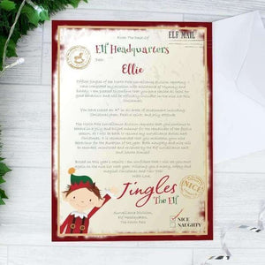 Personalised Elf Surveillance Christmas Letter,Pukka Gifts